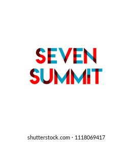 Seven Summit Vector Template Design Illustration
