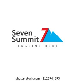 Seven Summit Vector Template Design Illustration
