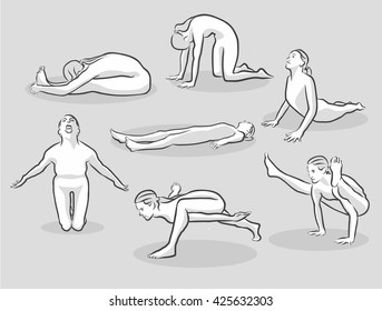 Similar Images Stock Photos Vectors Of One Line Set With Pregnant Women Doing Yoga Vector Cartoon Isolated Art On White Background Flat 1012289050 Shutterstock