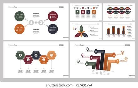 Seven Workflow Charts Slide Templates Set - Shutterstock ID 717431794