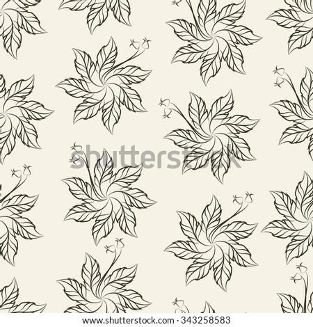 Seven Petal Crochet Flower Pattern Vector Illustration Stock Vector