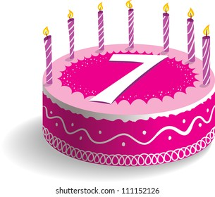 7th Birthday Images Stock Photos Vectors