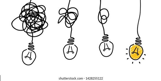 Several hanging lamps lamp idea ideas   Bright Business Idea Concept Vector bulb light education icon Bright idea Big Bulbs fun Funny FAQ FAQs Brilliant Lightbulb Light bulb signs brain chaotic chaos