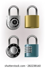 Several locks can lock and key and secret numerical code bladed iron and high security