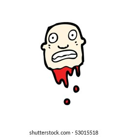 severed head cartoon
