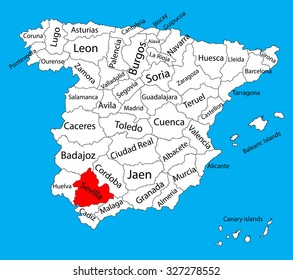Map Of Spain By Province.La Coruna Map Spain Province Vector Stock Vector Royalty Free