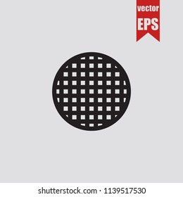 Sewerage icon in trendy isolated on grey background.Vector illustration.