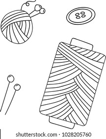 Sewing accessories symbols