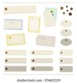 sewing frame set / vector eps 10  illustration