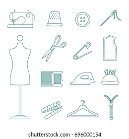 sewing icons set