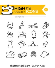 Sewing Line Icons Series
