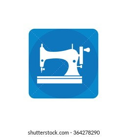 sewing machine icon, on white background