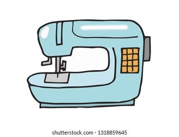 Sewing machine illustration