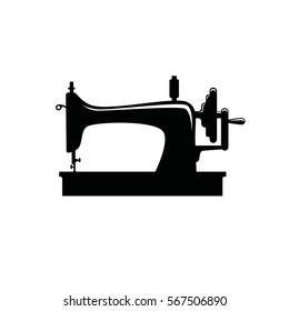 Sewing machine isolated on white background. Vector illustration for tailor shop or sewing.