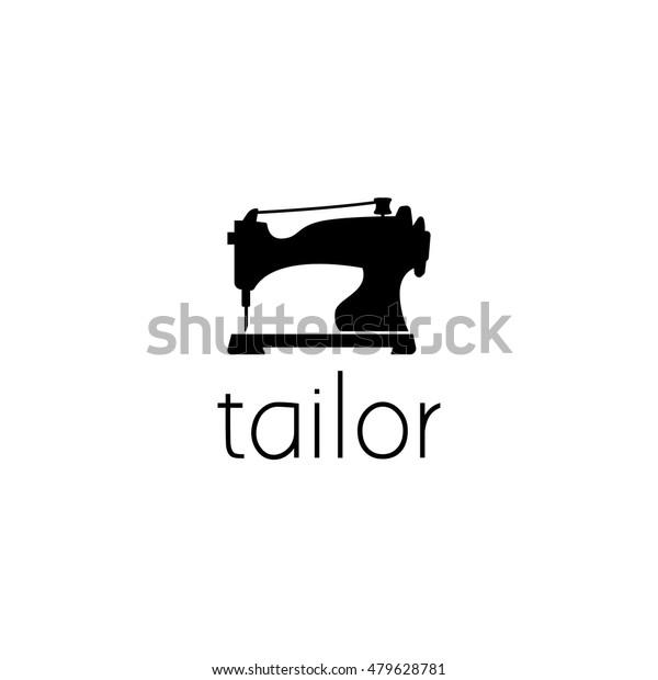 sewing machine logo graphic design 600w 479628781