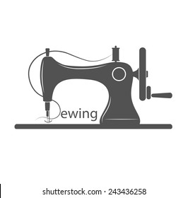 Sewing Machine Logo - vector symbol or icon