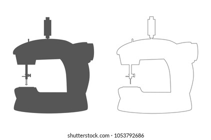 sewing machine outline icon