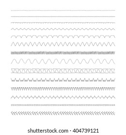 Sewing machine stitches, Set of 14 variations
