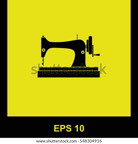 Sewing Machine Vector Black Icon Isolated Stock Vector Royalty Free Impressive Sewing Machine Vector Free