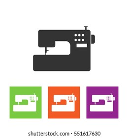 Sewing machine vector icon.