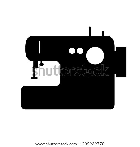 Sewing Machine Vector Silhouette Stock Vector Royalty Free Magnificent Sewing Machine Vector Free