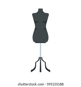 Sewing mannequin icon in flat style isolated on white background vector illustration