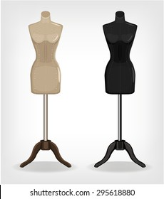 Sewing mannequin. Vector illustration
