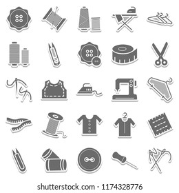 Sewing Material Isolated Vector Icons Very Useful For Sewing, Stitching and Tailoring