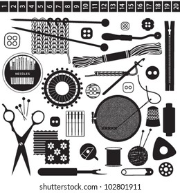 Sewing and needlework related symbols