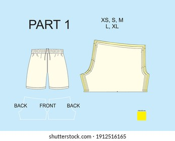 Sewing patterns custom sports shorts uniform football soccer for sublimation