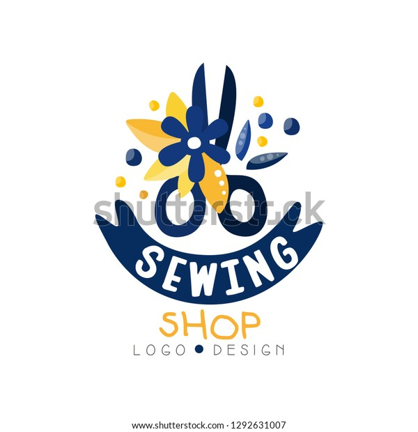 Sewing Shop Logo Design Dress Boutique Stock Vector Royalty Free 1292631007