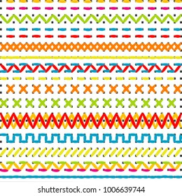 Sewing stitch borders for beginners