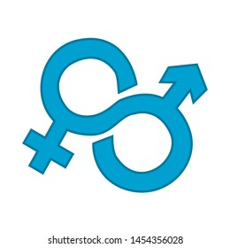 sex icon. flat illustration of Male and Female. vector icon. sex sign symbol