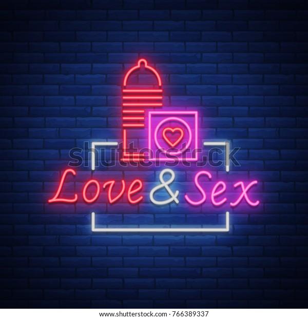 Sex Shop Neon Sign Logo Vector Stock Vector (Royalty Free
