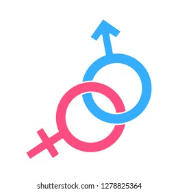 sex sign icon-male sign-female sign-gender symbol-heterosexual vector-wedding isolated