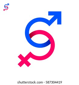 Sex Symbol Icon Logo Design Template - Abstract Letter S