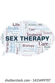 Sex Therapy word cloud. Wordcloud made with text only.