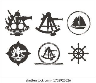 Sextant is a Ship Navigation Tool. A sea navigation tool used to measure the height of celestial bodies above the horizon in order to determine the position of the ship