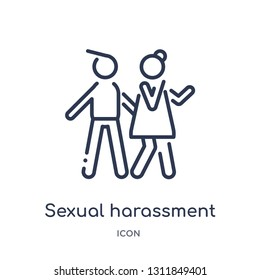 sexual harassment icon from people outline collection. Thin line sexual harassment icon isolated on white background.