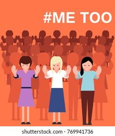 Sexual harassment poster with women. vector illustration. World social gender problem vector illustration.
