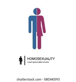 Sexual orientation, homosexuality web icons,symbol,sign, isolated on a white background