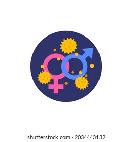 Sexual transmitted disease, STD vector icon