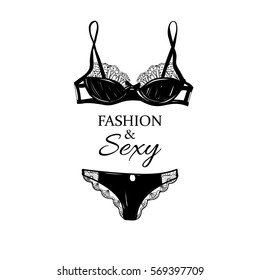 Sexy and fashion women lingerie.
