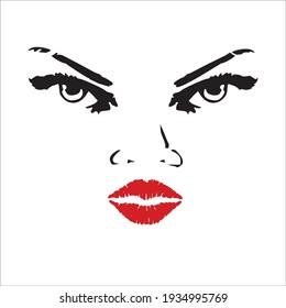 a sexy female face illustration design
