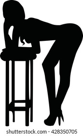 Sexy girl based on a bar stool