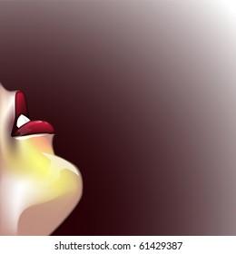 Sexy lips background