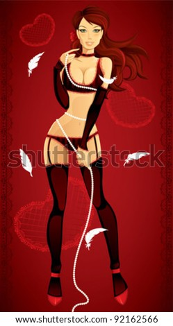 7088f56eb13 Sexy Valentine Pinup Girl Sexy Valentine Stock Vector (Royalty Free ...