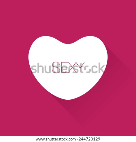Sexy Valentines Day Heart Candy Stock Vector Royalty Free