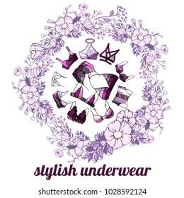 sexy violet underwear bra in flover round