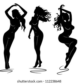 sexy woman girl silhouettes
